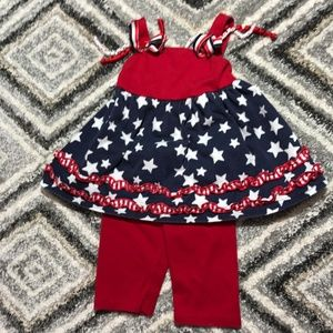 Blueberi Boulevard 4th of july outfit 24 months